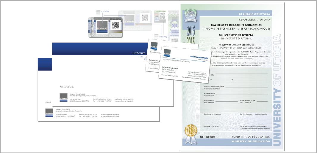 Druckprodukte - Schwarz Druck GmbH, Sicherheitsdruckerei, Hausham