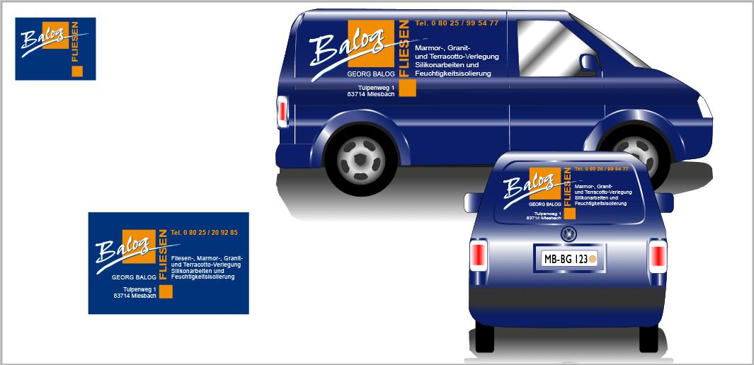 "Corporate Design ""Balog"" - Unternehmenskommunikation (Visitenkarte, Kfz-Beschriftung)"
