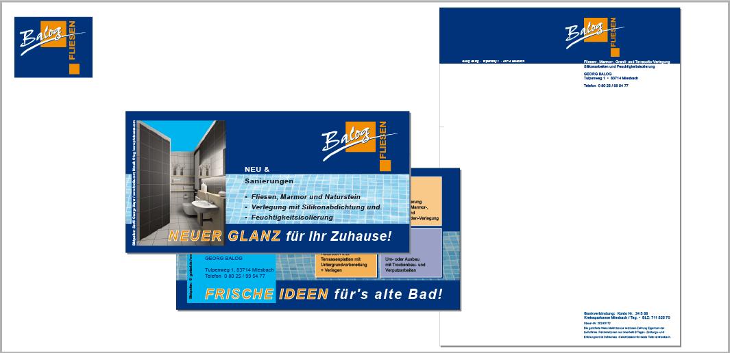 """Corporate Design """"Balog"""" - Unternehmenskommunikation (Logodesign, Flyer, Briefbogen)"""