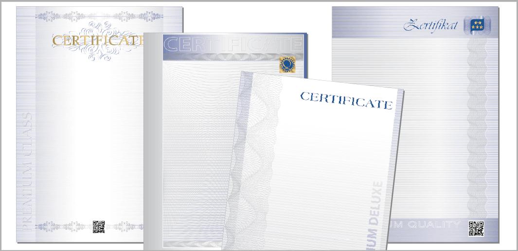 Zertifikate - Certificates (Muster / specimen)