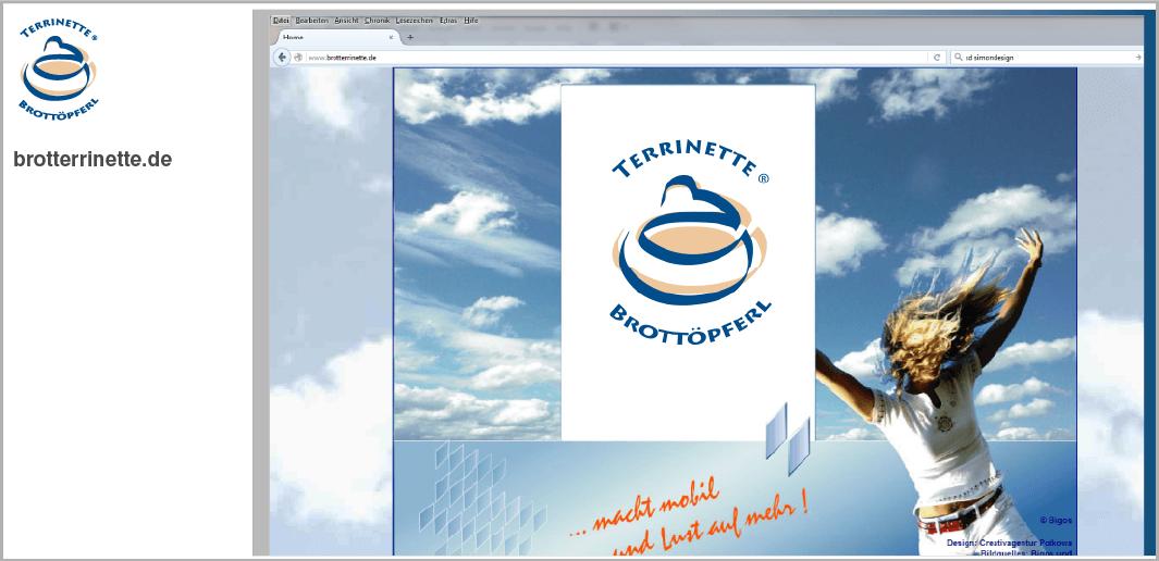 Webdesign - Brotterrinette - das Bottöpferl, Schliersee / Neuhaus