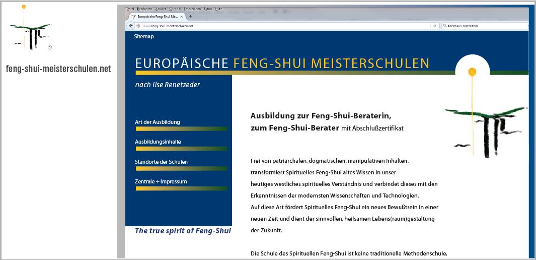 Webdesign - Europäische Feng-Shui Meisterschulen