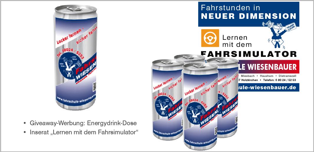 Giveaway-Werbung und Inserat - Fahrschule Wiesenbauer GmbH, Holzkirchen
