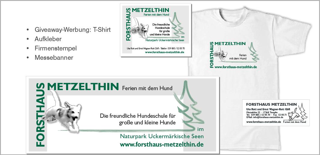 Werbeartikel - Giveaways - Forsthaus Metzelthin - Ferien mit dem Hund