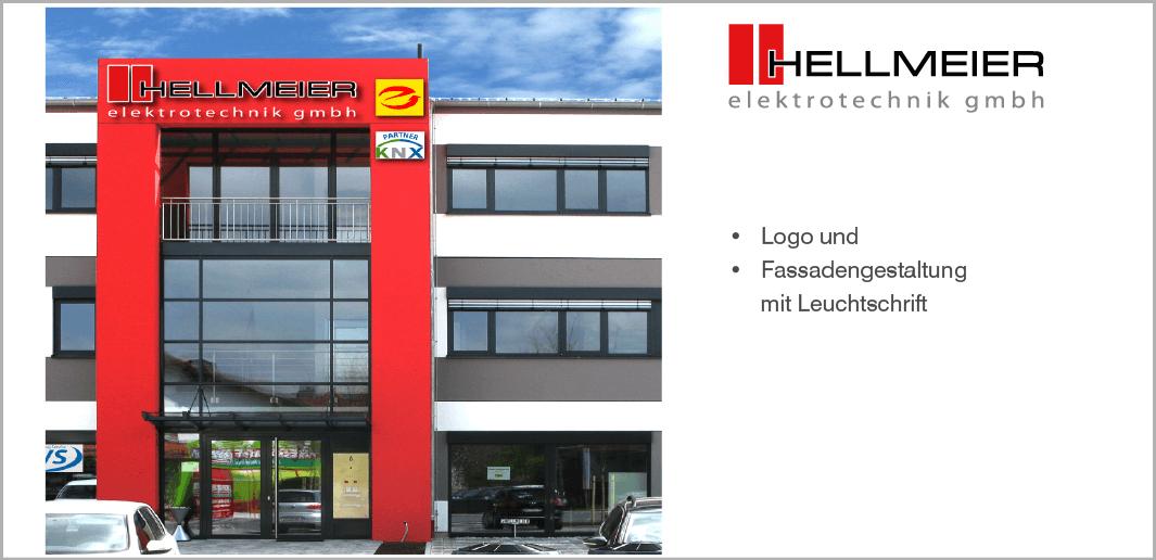Logo und Fassadengestaltung - Hellmeier Elektrotechnik GmbH, Holzkirchen