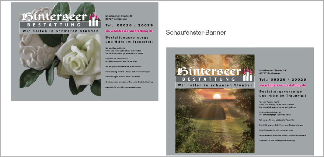 Schaufentser-Banner - Hinterseer - Bestattung, Schliersee