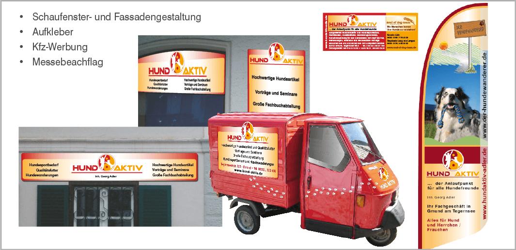 Werbung: HUND AKTIV, Georg Adler, Fachgeschäft für Hundebedarf in Gmund am Tegernsee