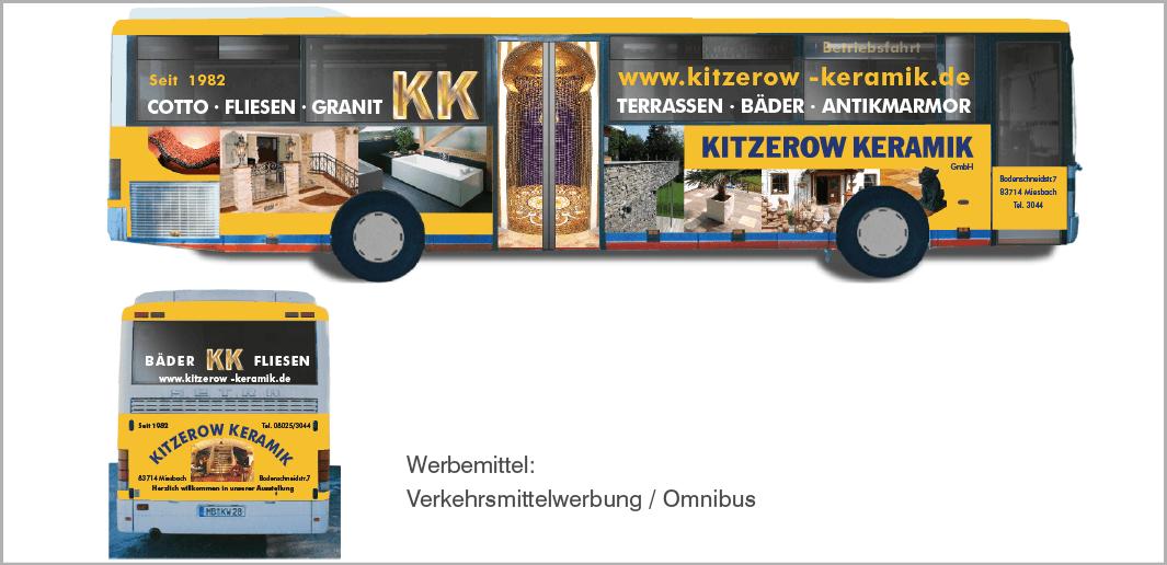 Verkehrsmittel-Werbung: Kitzerow Keramik GmbH, Miesbach
