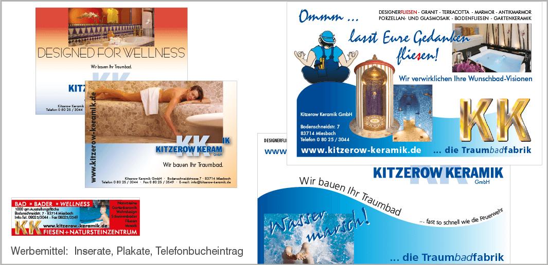 Werbemittel - Kitzerow Keramik GmbH, Miesbach