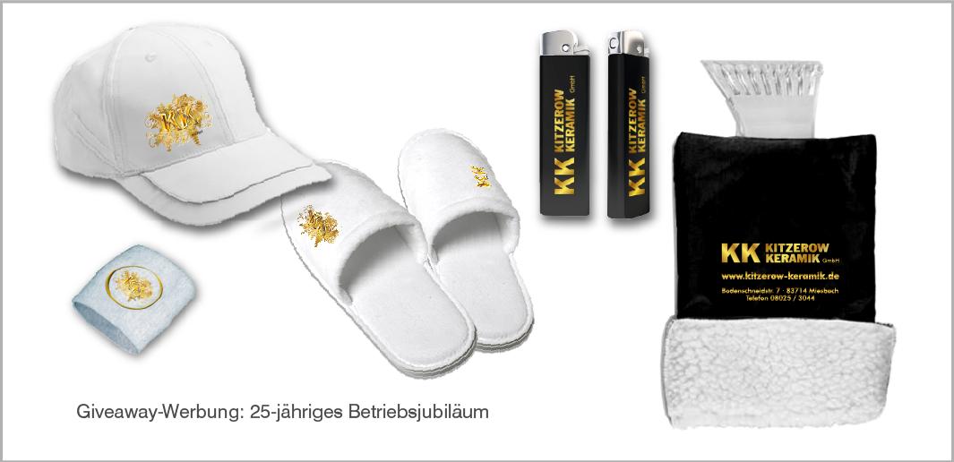 Werbeartikel Kitzerow Keramik zum 25-jährigen Geschäftsjubiläum