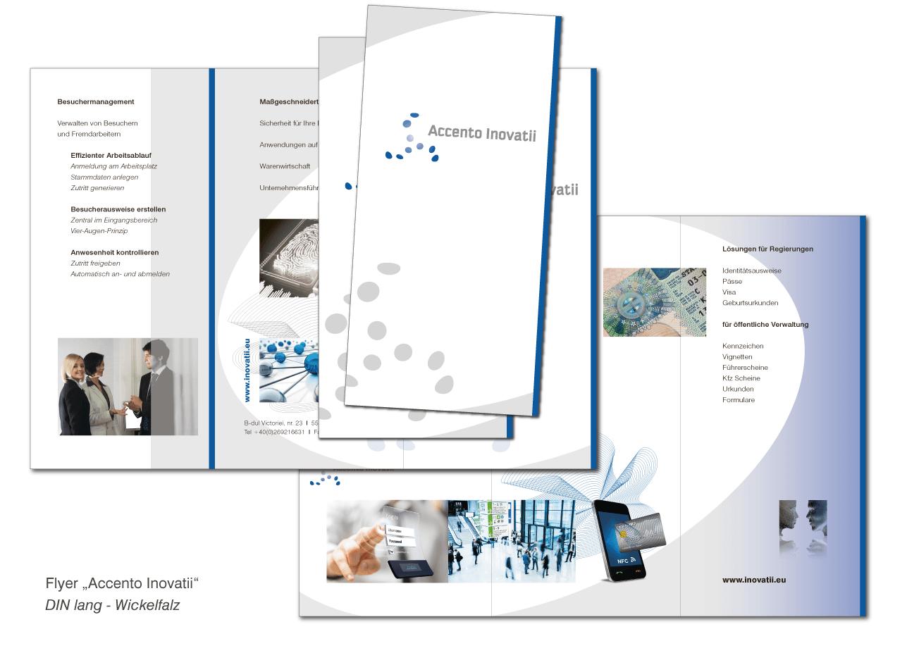 Accento Inovatii - Flyer DIN lang (Wickelfalz)