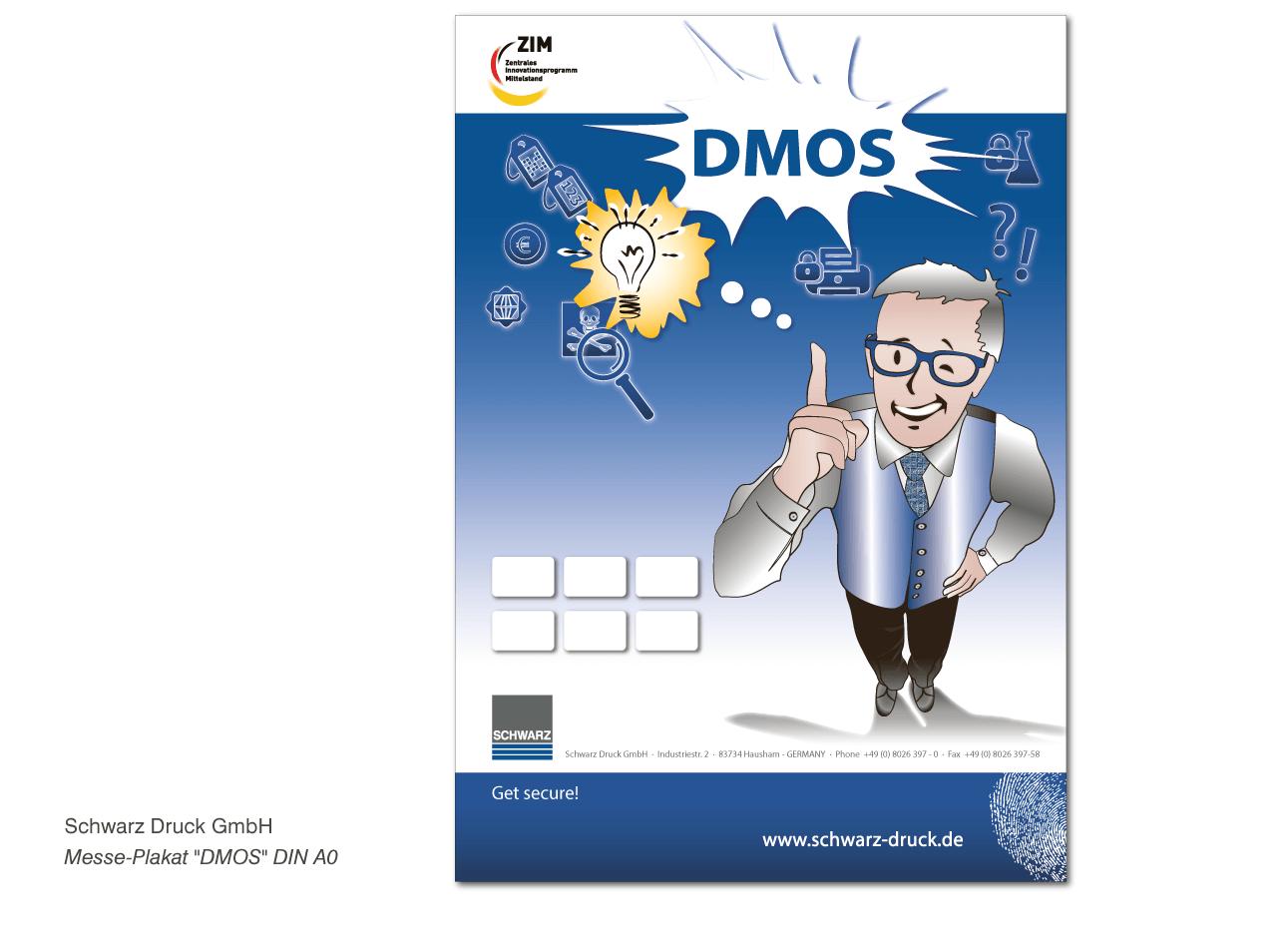"""Schwarz Druck GmbH - Messeplakat """"DMOS"""" v- DIN A0"""