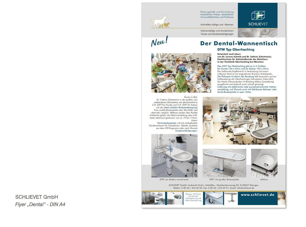 """SCHLIEVET GmbH - Werbeflyer """"Dental"""" - DIN A4"""